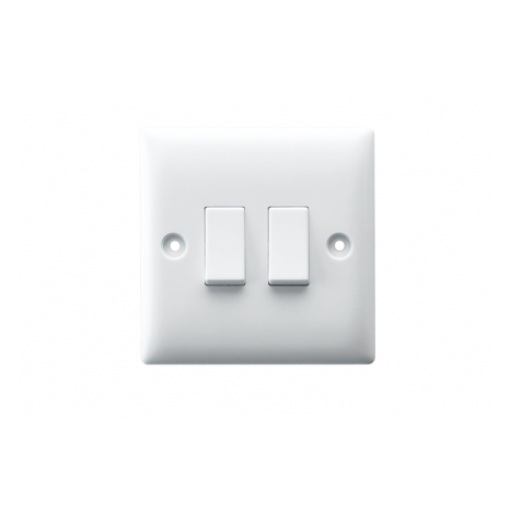 10AX 2 GANG 2 WAY SWITCH PLATE