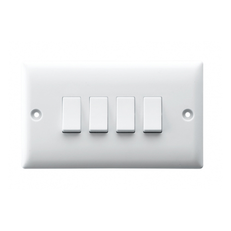 10AX 4 GANG 2 WAY SWITCH PLATE