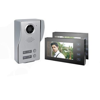 """7""""-Video-Door-Phone-2-Moniter-With-1-Cam"""
